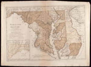 Maryland und Delaware image courtesy of Sterling Library at Yale University