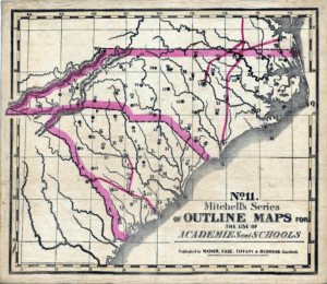1841 School Map of Carolinas