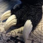 GMKゴジラの爪の塗装