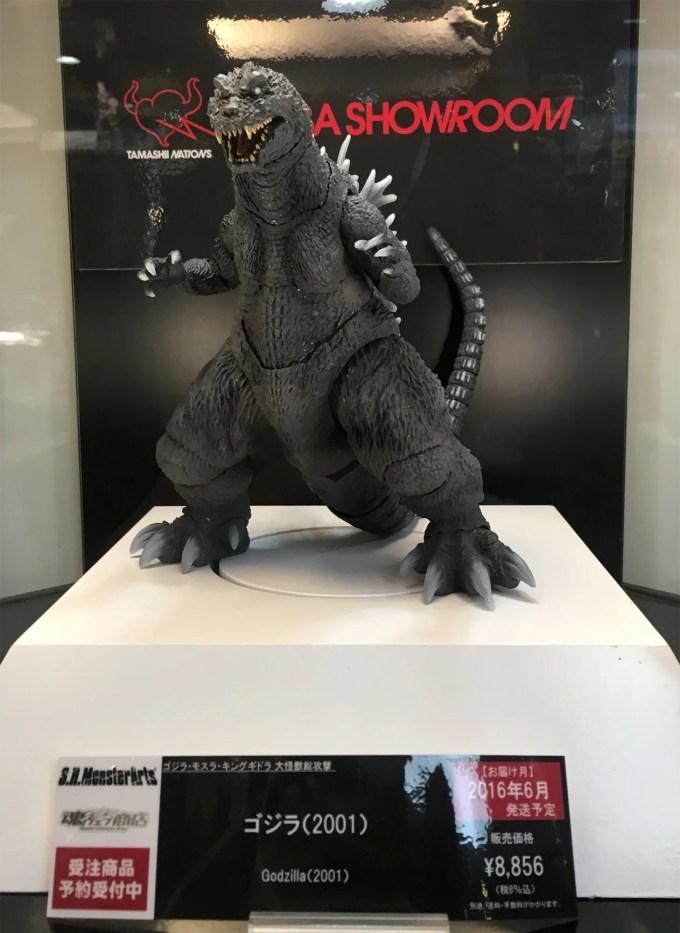 S.H.MonsterArts ゴジラ(2001)サンプル正面