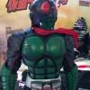 映画『仮面ライダー1号』に登場するスーツの展示