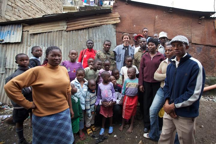 Me with residents of the Kasabuhi slum that I photographed