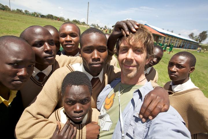 Awesomely crazy Masai students near the Masai Mara   Photo by Nelson Guda