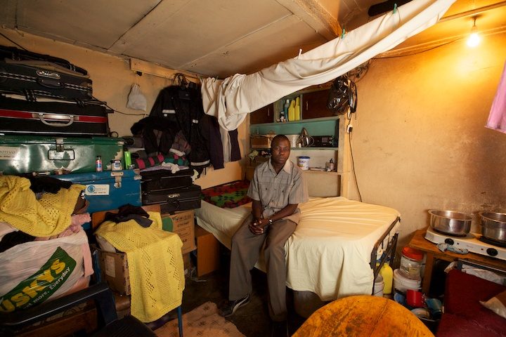 The second room in Ben and Janet's dwelling in the Mathare slums