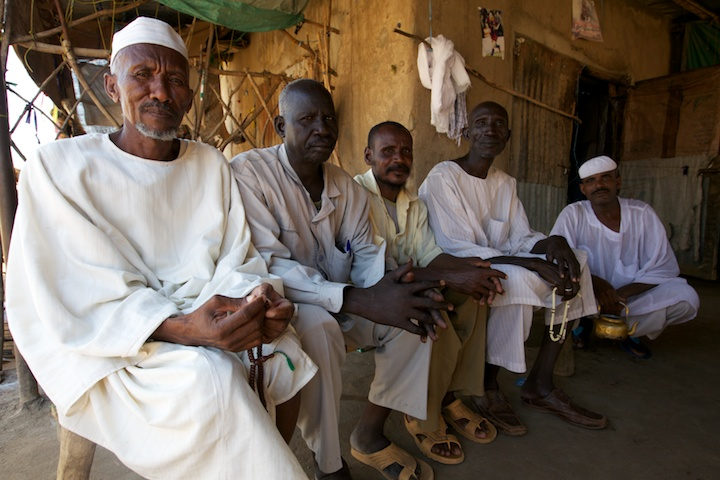 Five merchants in Warawar, South Sudan | Photograph by Nelson Guda