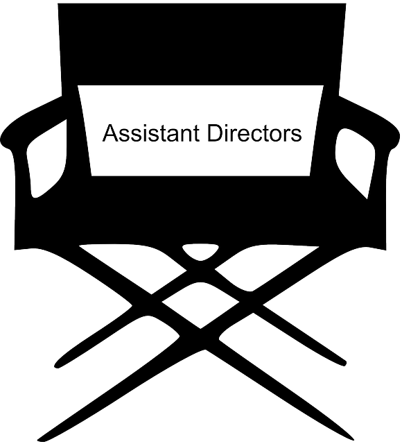 Role played by an assistant director on a TV or film set