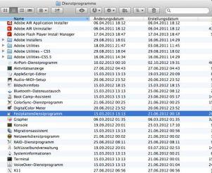 Festplattendienstprogramm auswählen