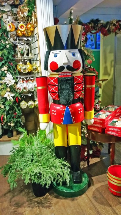 Christmas toy soldier at the Christmas Dove shop in Barrington NH