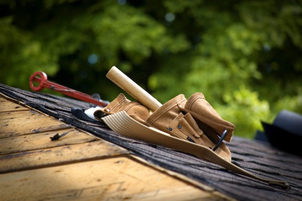 roof repairs and other home maintenance projects