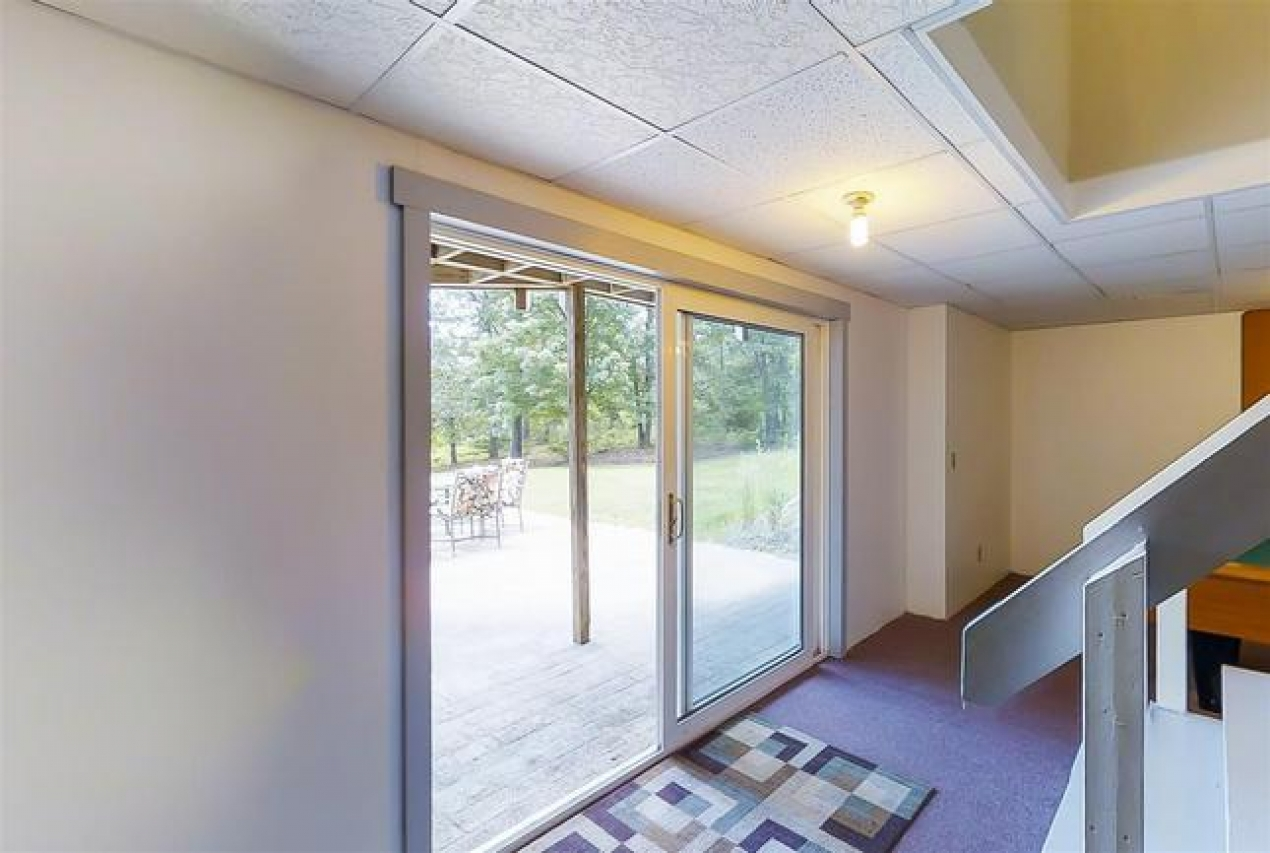 sunny basement with walkout