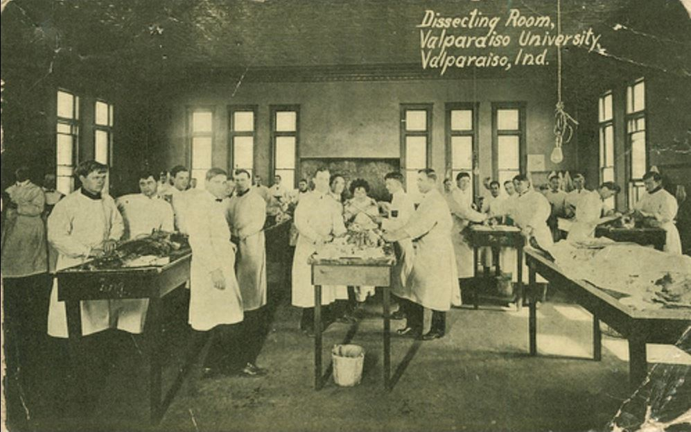 dissecting room valparaiso indiana 1915