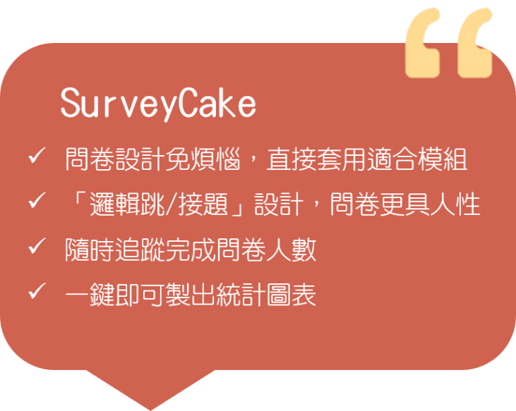 Survey Cake優點