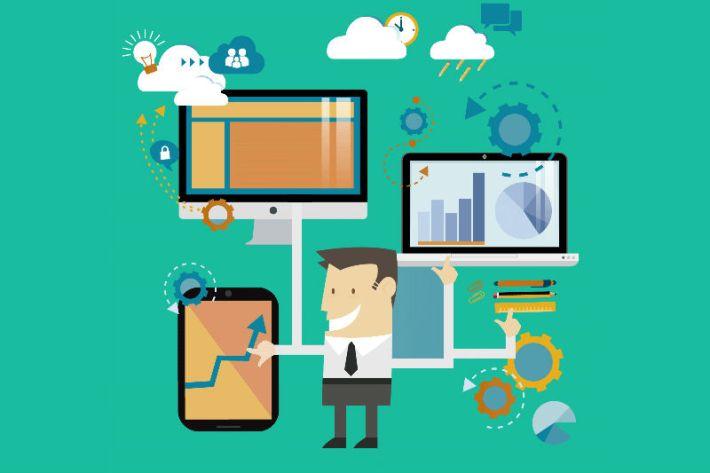 Ilustrasi perangkat yang diperlukan online seller