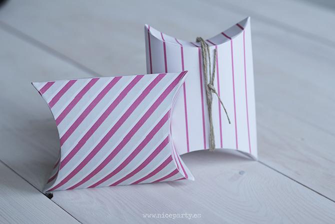 DIY navidad cajas para regalos imprimible printable Nice Party