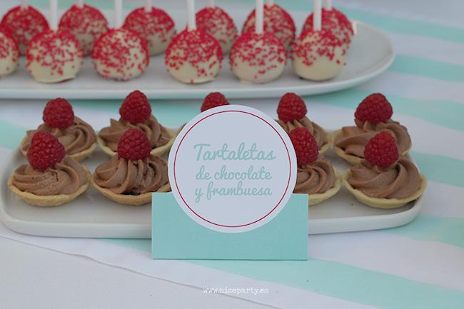 Nice Party 30 cumpleaños mesa de dulces tartaletas