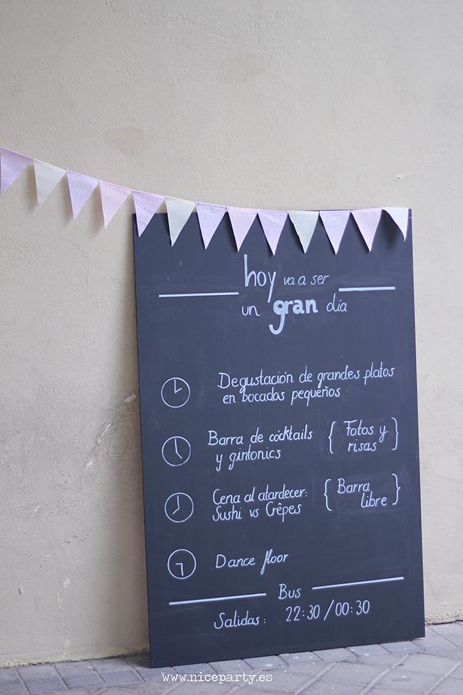 Nice Party carteles efecto pizarra para bodas