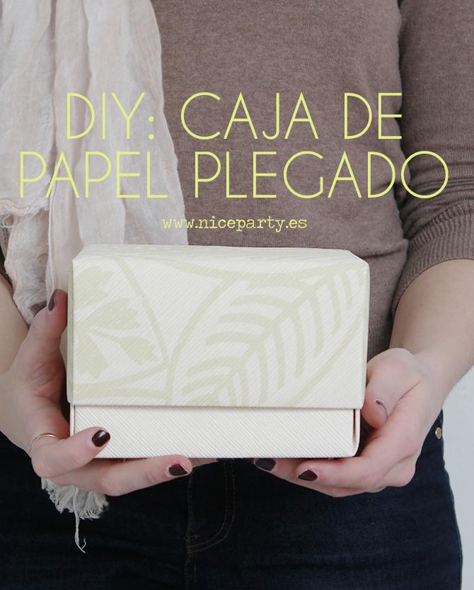 DIY niceparty tutorial caja de papel plegado (1)