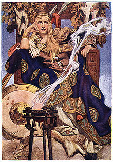 Queen Maev by J. C. Leyendecker