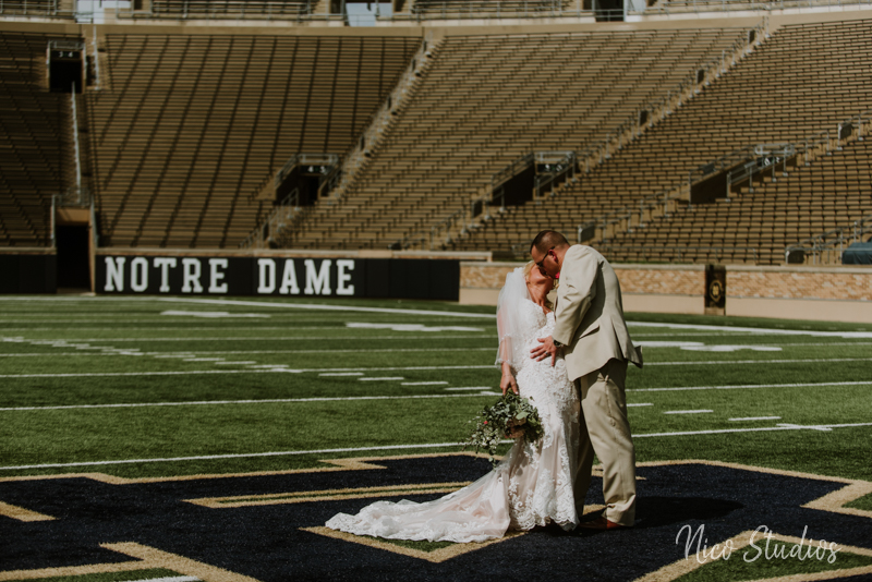 Notre Dame Stadium Wedding