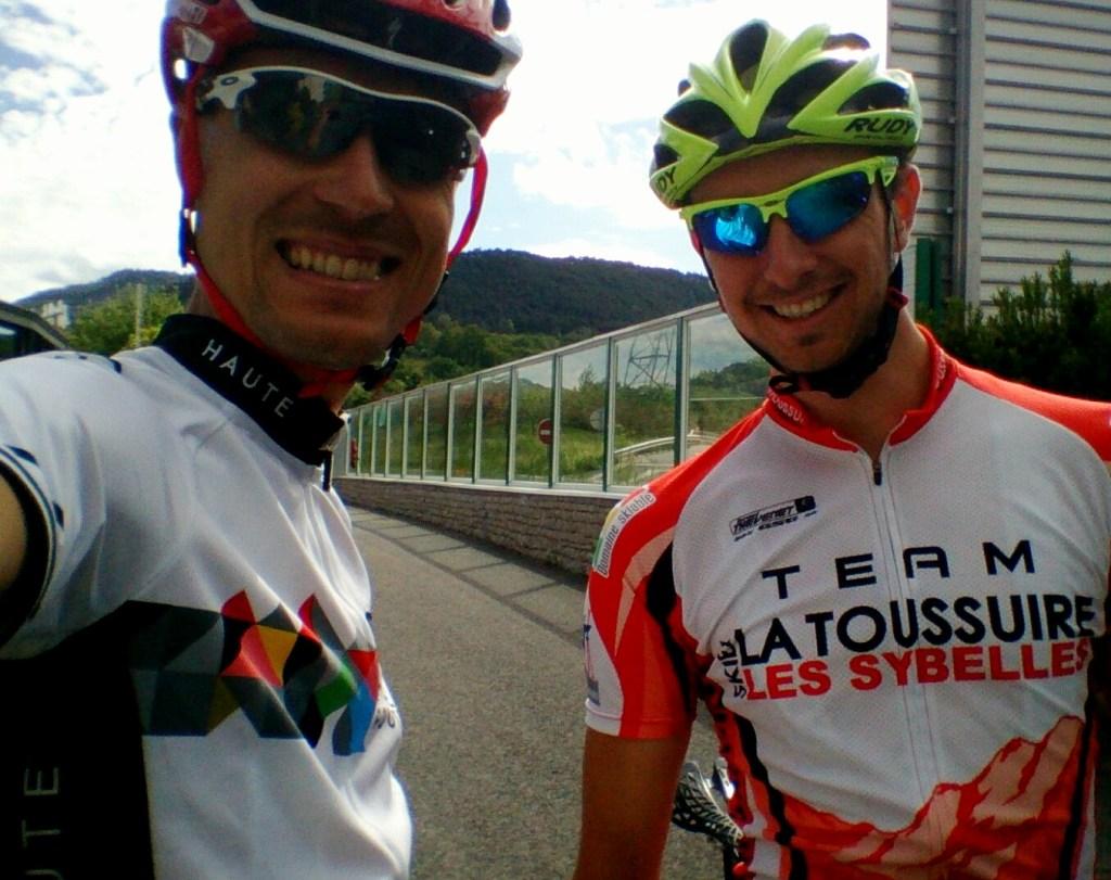 Avec Cédric Paluello, le samedi, veille de course.