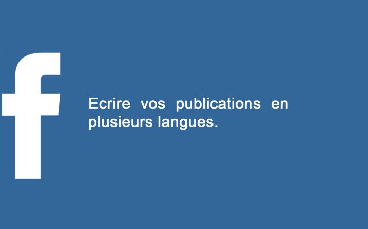 publication multi langue facebook
