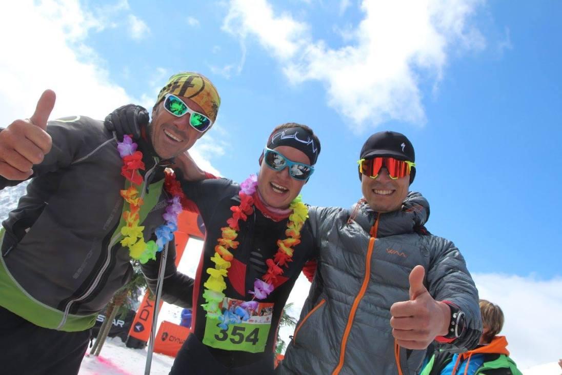 Equipe relais Fred Bousseau, Steven Blanc, Nicolas Raybaud du x3 courchevel