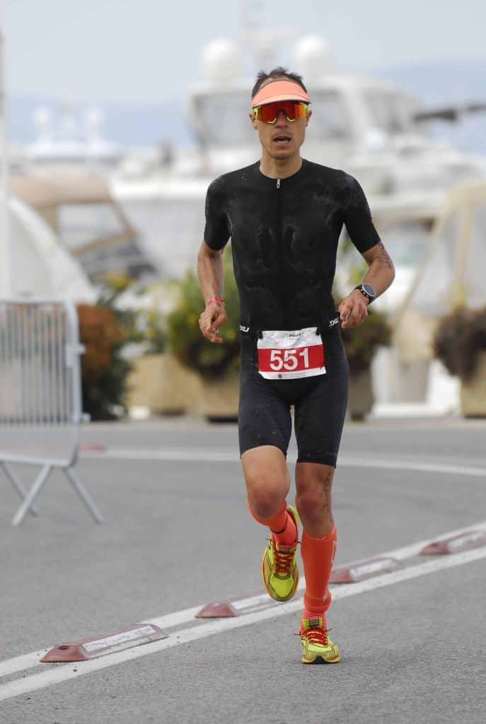nico raybaud cannes international triathlon 2XU running newton