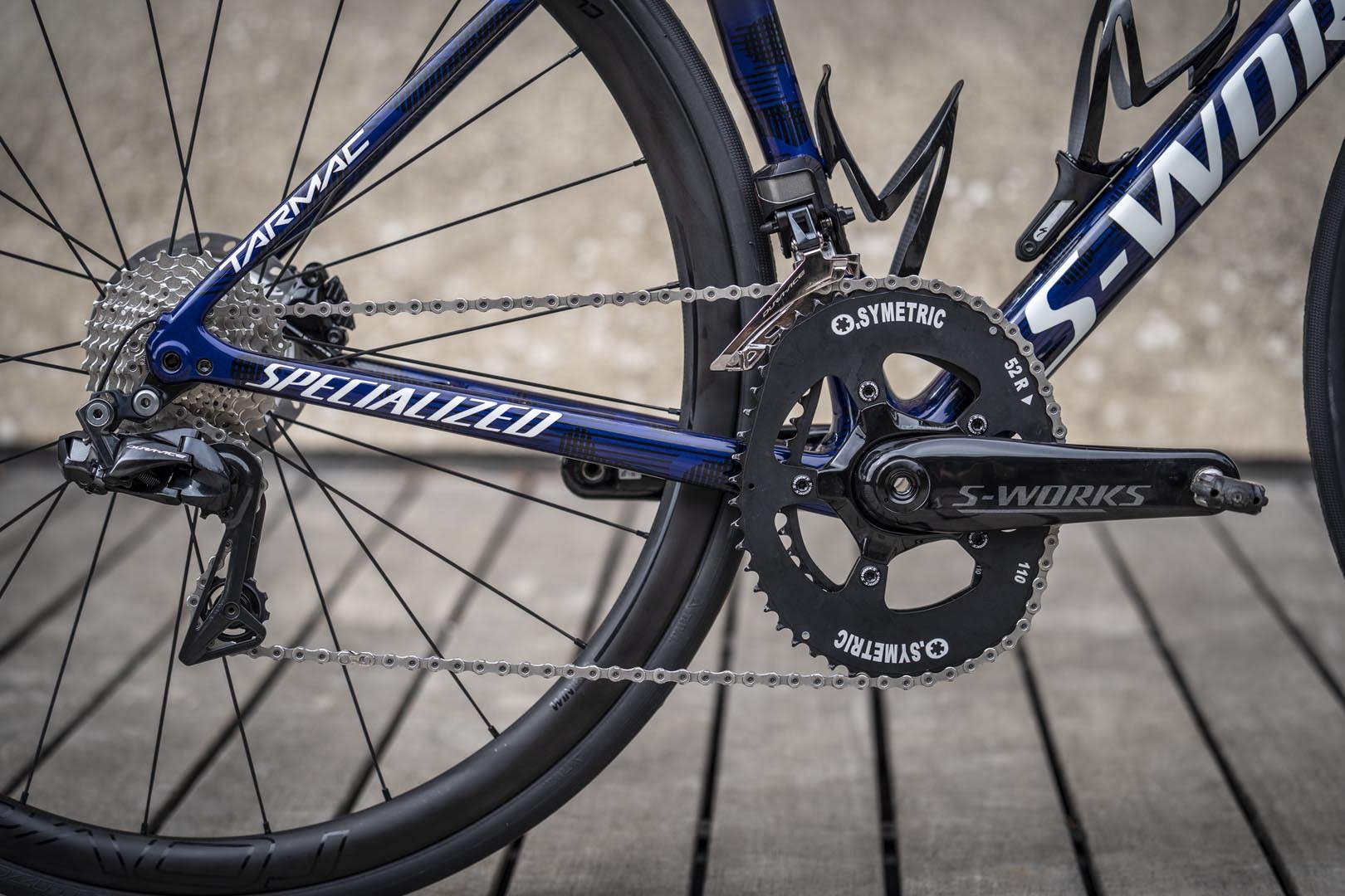 pédalier osymetric power cranck The WolfPack et specialized sworks tamarc disc julian alaphilippe