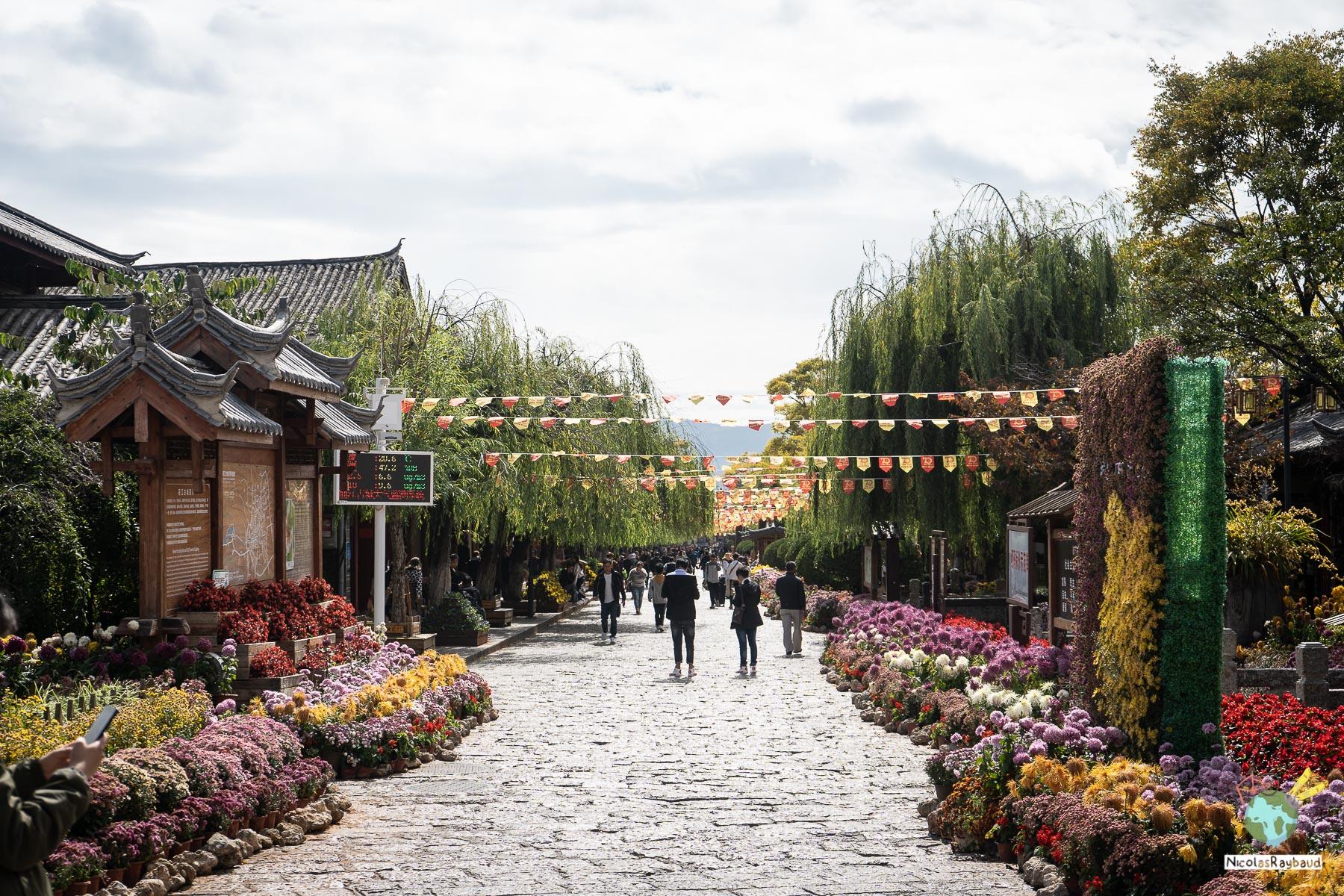 rue de la vielle ville de lijiang
