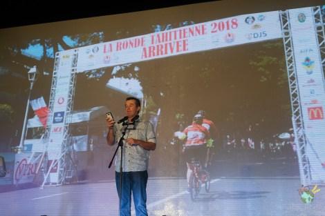 Benoit Rivals présente la ronde tahitienne au granfondo yunnan