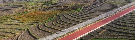 pavés de l'étape de tengchong granfondo yunnan