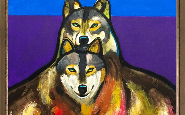 Contemporary Wildlife Art 2 Wolves