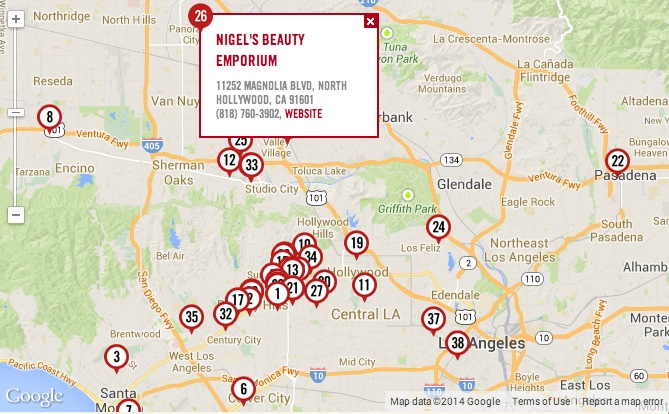 nigels named top beauty shop in LA