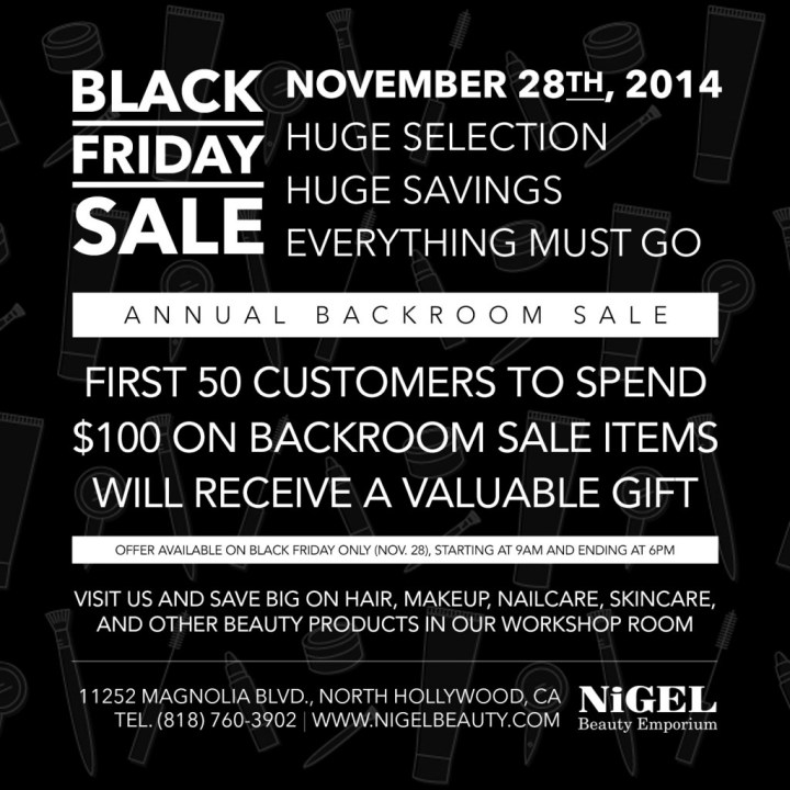 Nigel Beauty Emporium Black Friday Sale