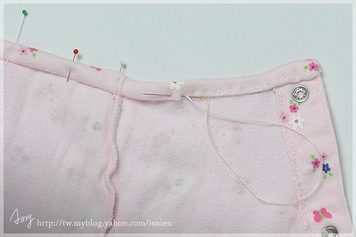 步驟7:用平針縫固定縫份。