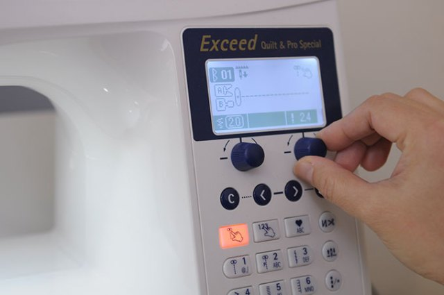 Juki F600 縫紉機超棒的旋鈕設計