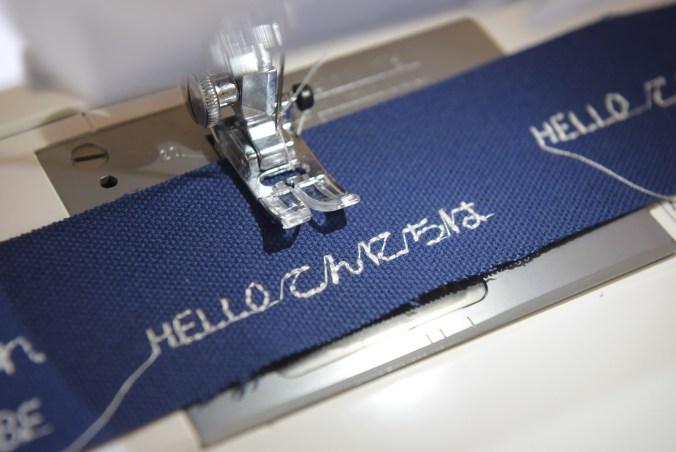Janome A8000縫紉機-繡字實測