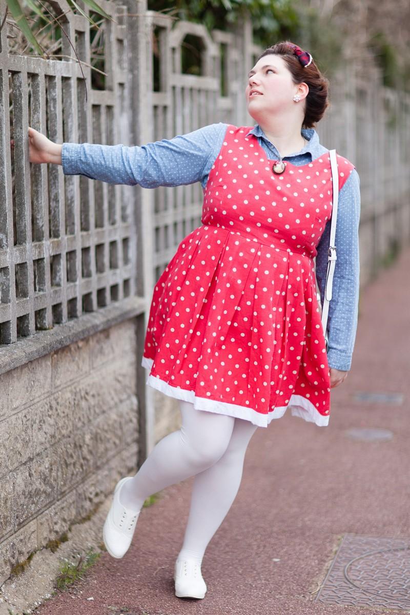 Ninaah Bulles, look poupée, rétro, vintage, poids, plus size, curvy, grande taille, robe patineuse