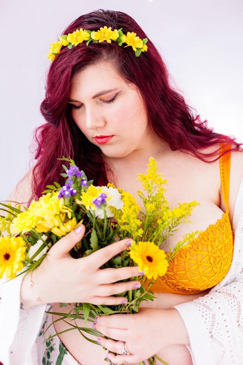 lingerie, soutien gorge, grande taille, dentelle, aubade, bahia, papaya, couture, confiance en soi, soutien gorges, champetre, délicat, fleurs, curvy, body positive, grand bonnet,glamuse
