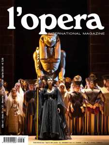 the cover of the April 2019 issue of the magazine L'Opera-International