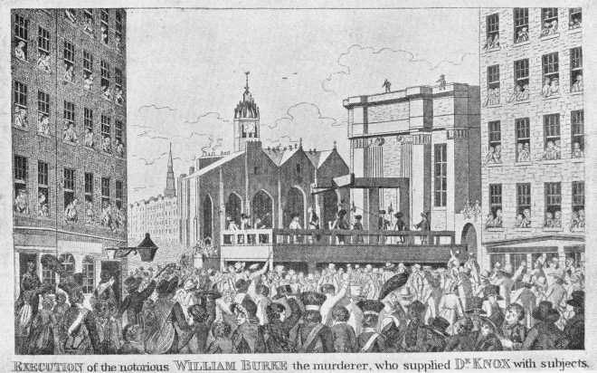 Execution of Burke in Lawnmarket