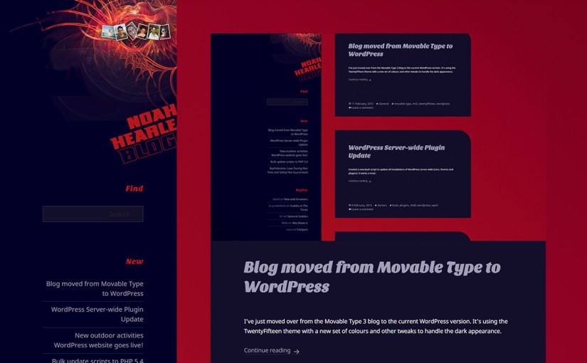 Blog moved from Movable Type to WordPress