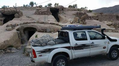Der Pickup bietet ausreichend Ladefläche für unser umfangreiches Camping-Equipment