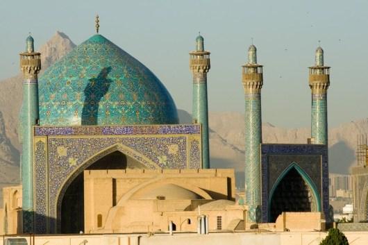 Iran, Isfahan, Shah-Moschee (Masdjid-e Imam) am zentralen Meidān-e Emām