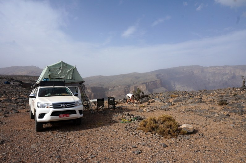 Übernachten auf dem Jabal Shams