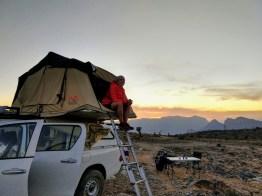 Übernachtungsort in den omanischen Bergen