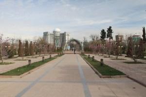 Der Rudaki Park in der Hauptstadt Dushanbe - Tadschikistan