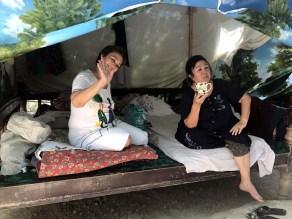 Pilgrime im Zelten