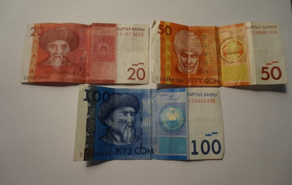 Währung in Kirgistan: Geldscheine Kirgistan