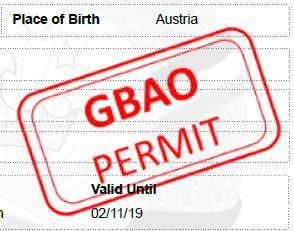 Visum mit GBAO Permit